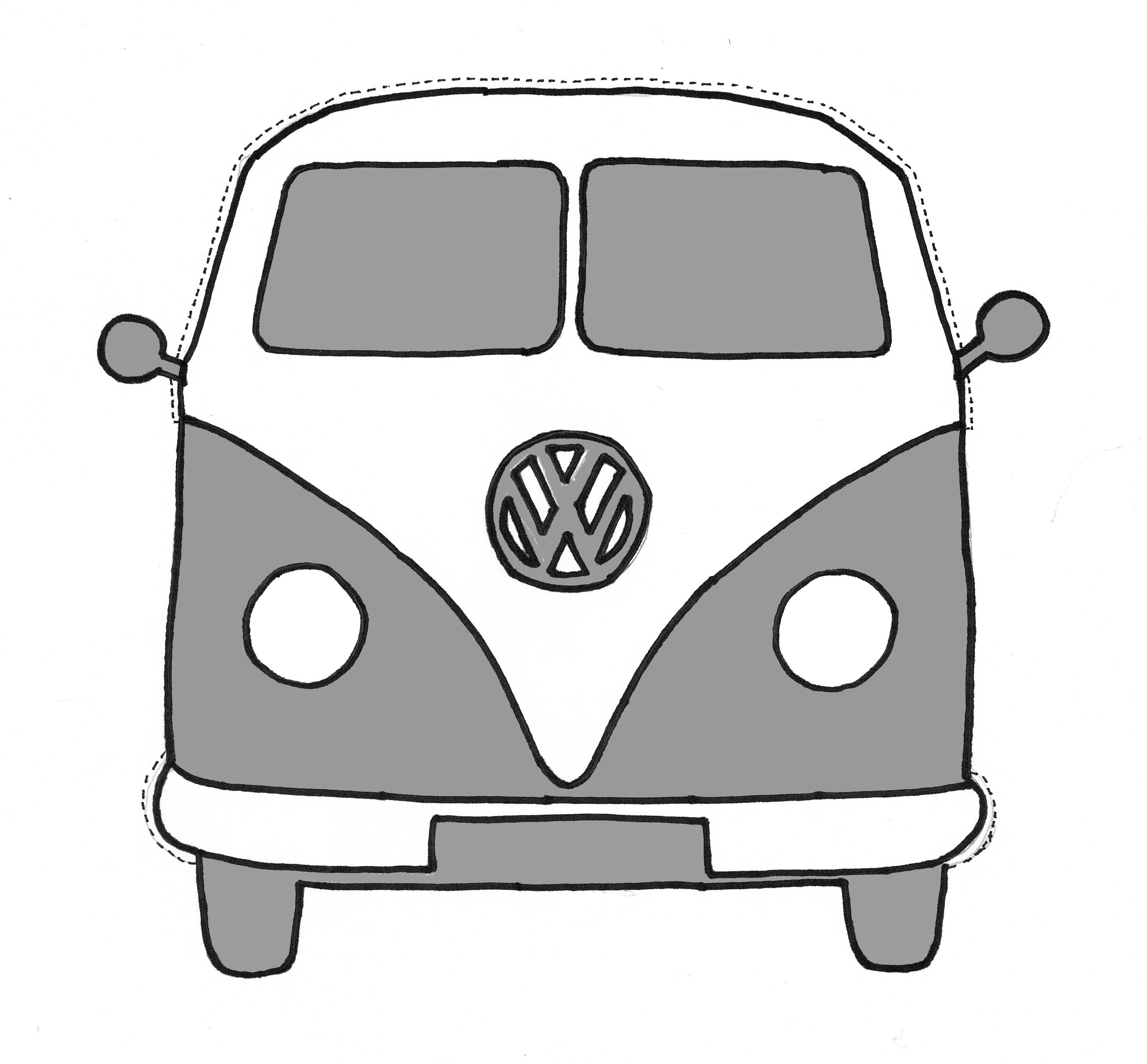 Free coloring pages of vw camper