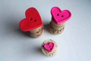 heart button cork stamps
