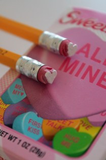 pencil heart stamps