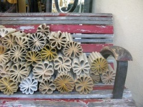 upcycled book flowers