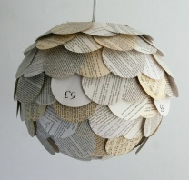 upcycled book globe