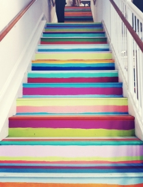 Colorful stripes, Justina Blakeney blog