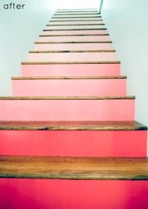 Pink gradient stairs, Design Sponge