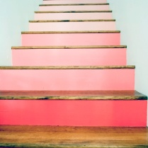 Pink gradient stairs, Design Sponge