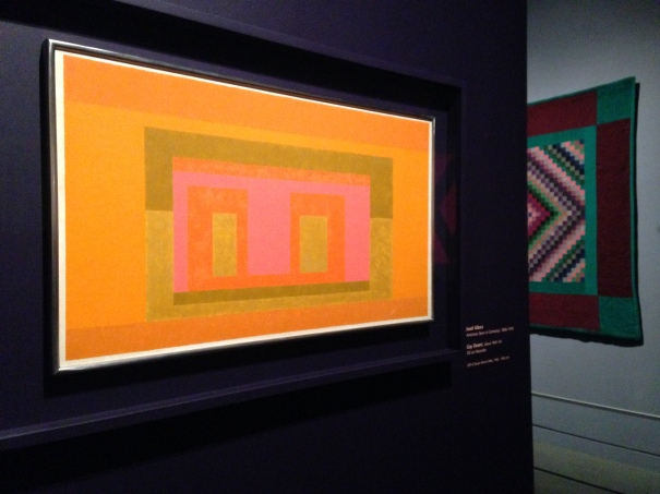 An exquisite painting by color theorist Josef Albers at the Quilts and Color Exhibit