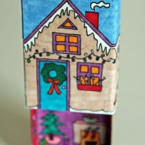 Winter Matchbox House