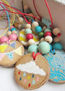 Wooden Necklaces from Avery Rayne Designs