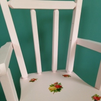 doll chair close up