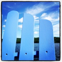 Blue Adirondack by homemadecity