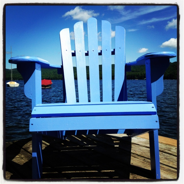 Blue chair by homemadecity