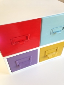colorful file drawers by homemadecity.com
