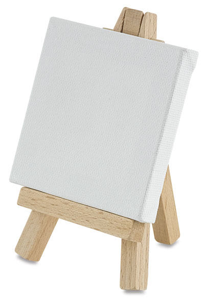 tiny easel and canvas