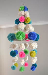 Small for big pom pom chandelier