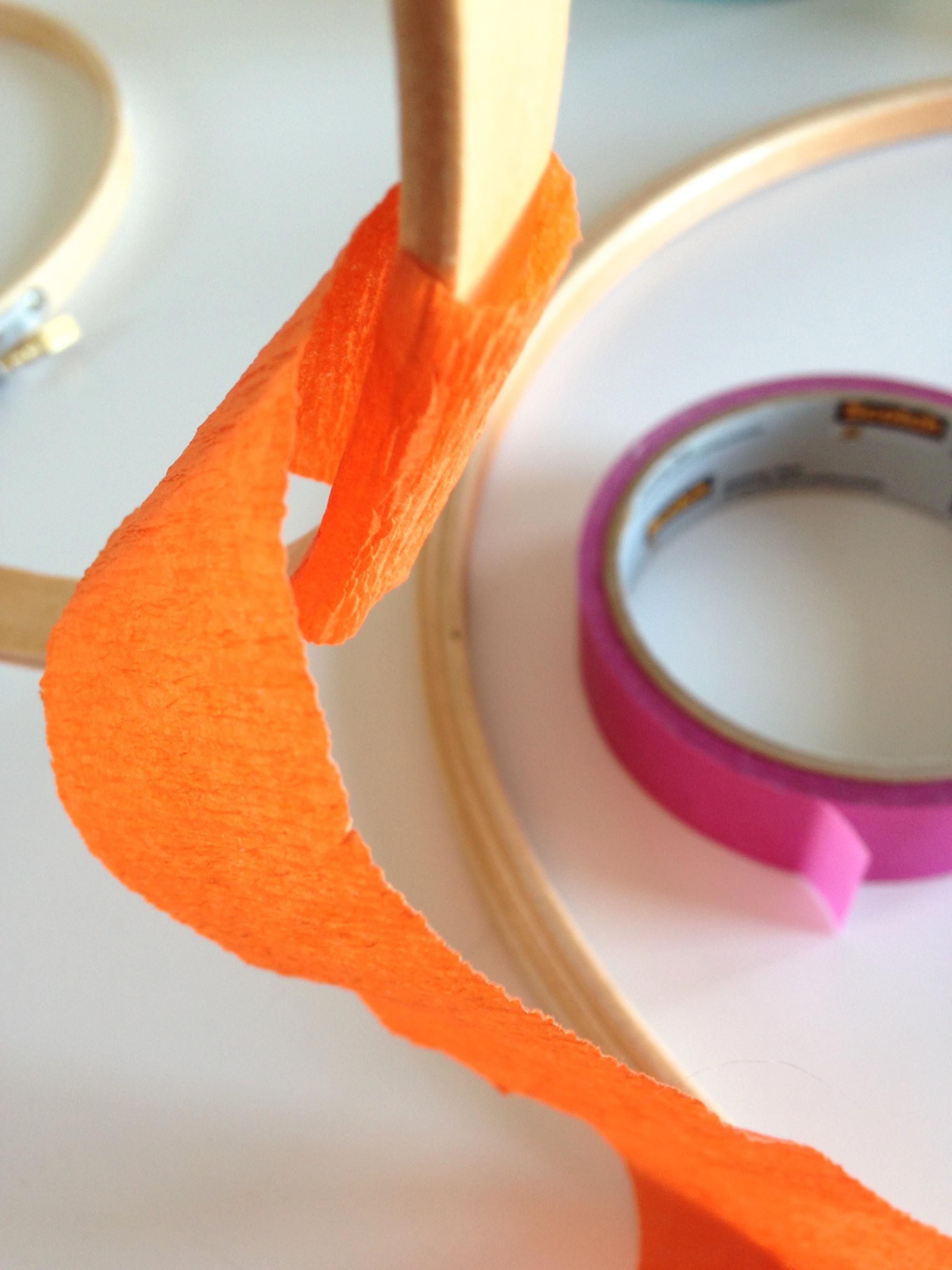 DIY Crepe Paper Chandelier
