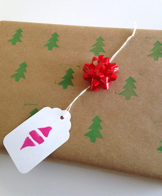 Tree stamping at homemadecity.com
