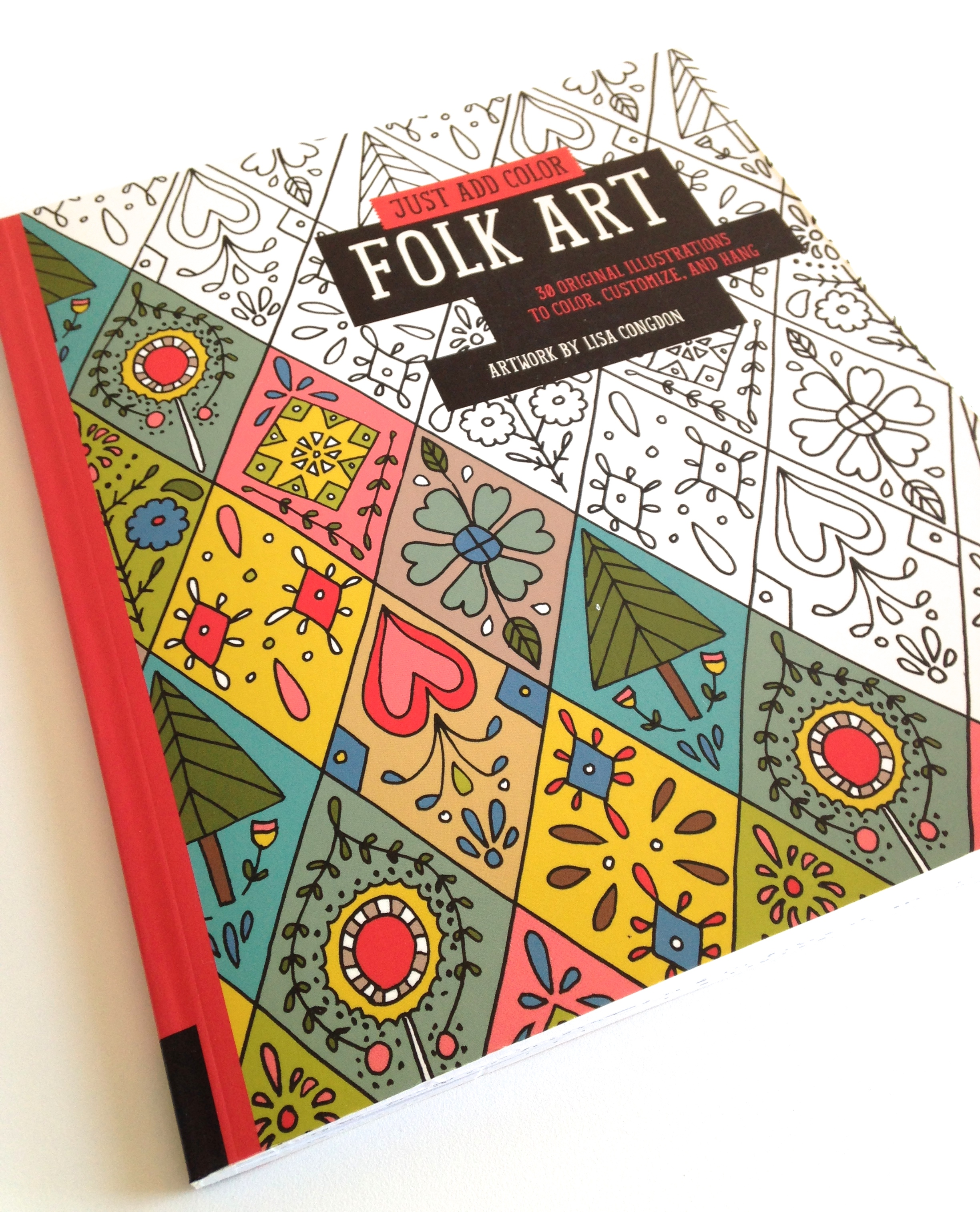 folk art coloring book by lisa congdon - Outside The Lines Coloring Book