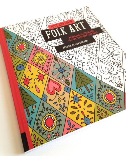 Folk Art Coloring Book by Lisa Congdon
